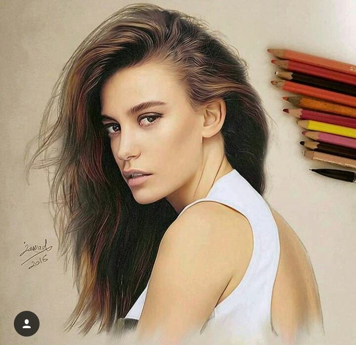 color pencil drawing by jawad alghezi