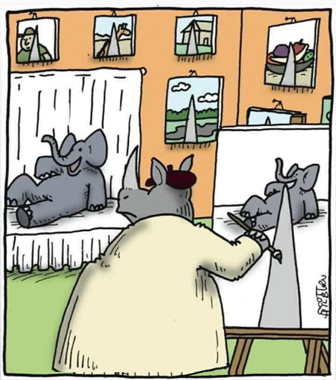 funny painting drawing perspective by scott hilburn