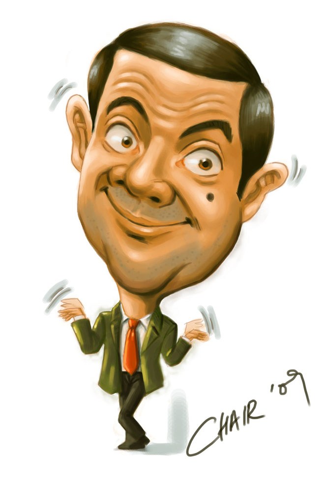 15 mr bean caricature