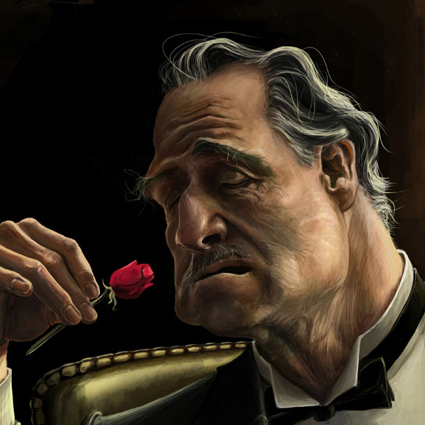 marlon brando th caricature