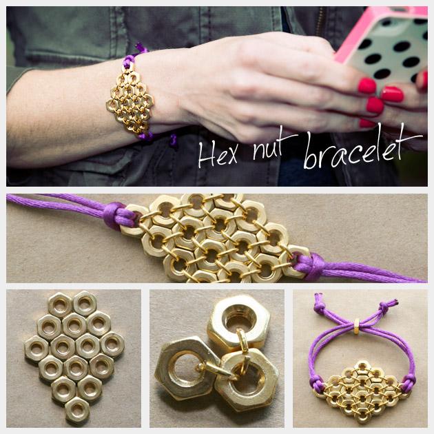 nuts bracelets diy