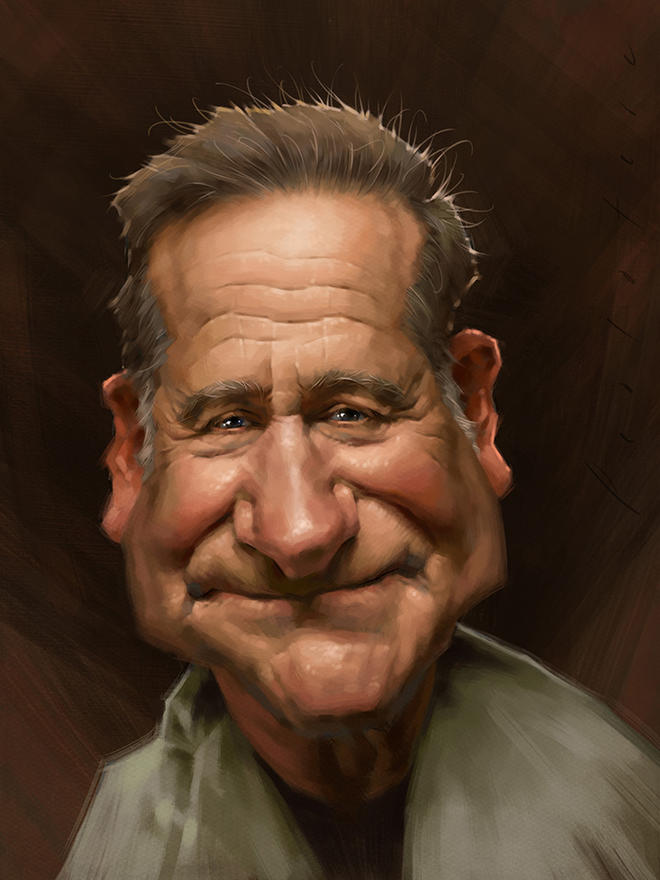 robin williams caricature by will pealatere -  9