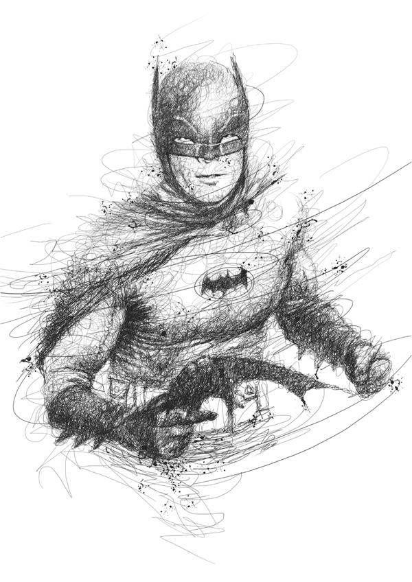 batman scribbles