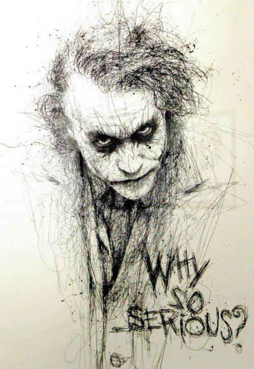 heath ledger joker scribbles vince
