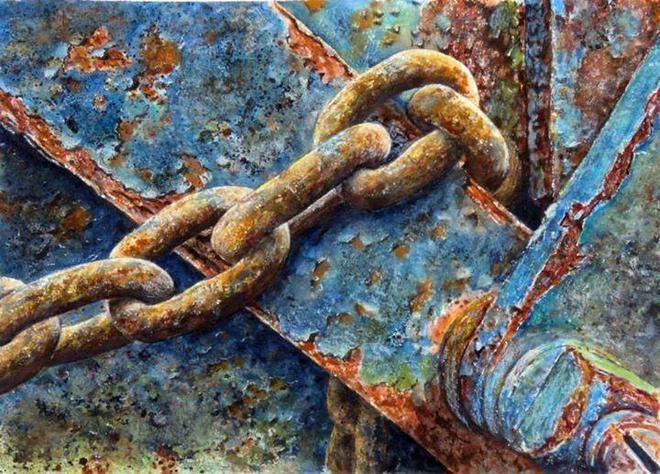 rust watercolor paintings by cheryl johnson art