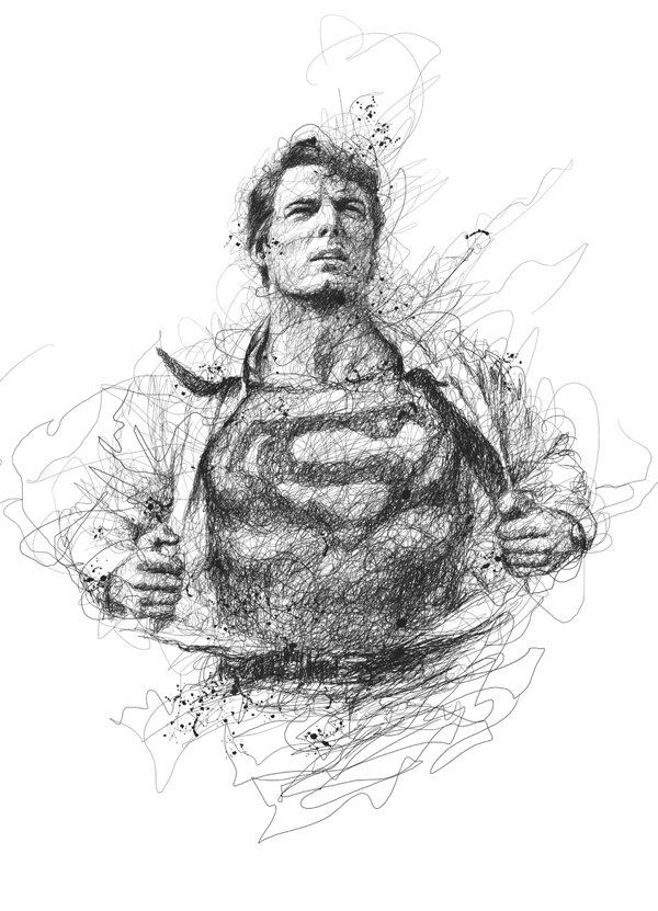 super hero scribbles