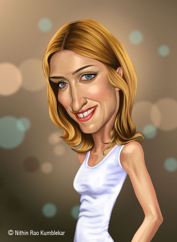 lady celebrities caricatures nithin