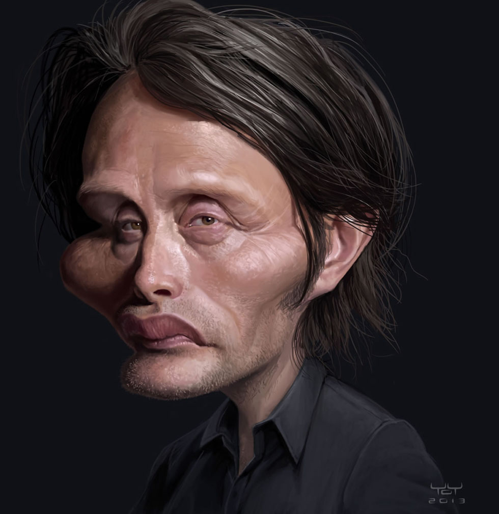 mads mikkelsen celebrity caricatures yoann