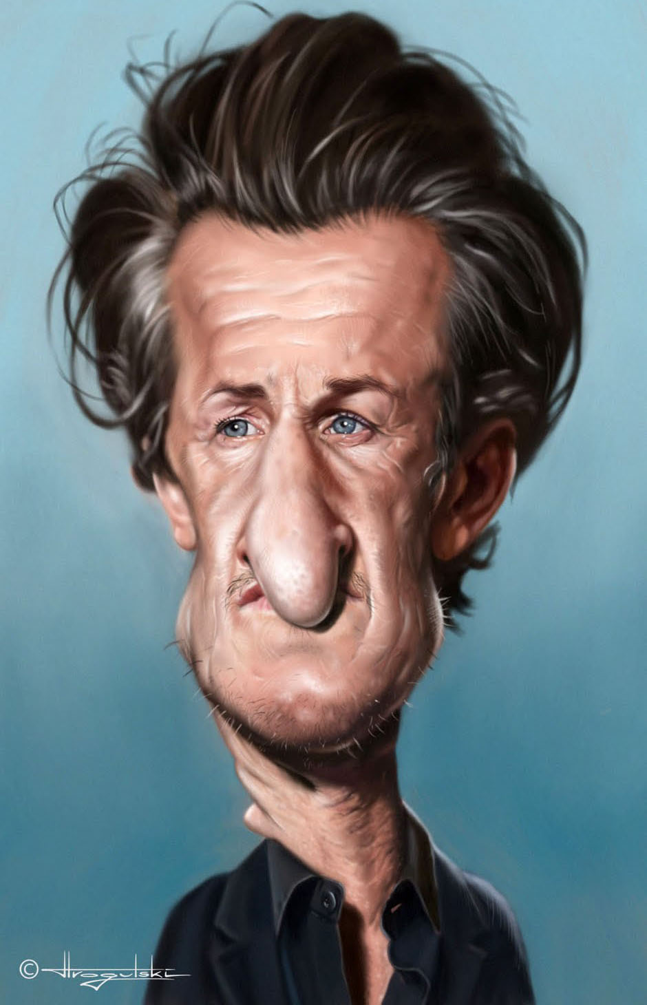 male celebrity caricatures patrick