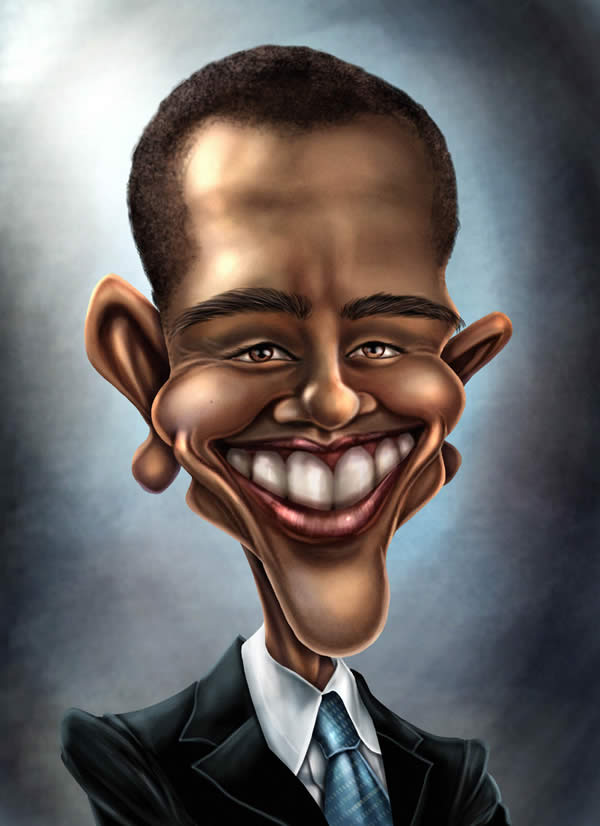 obama celebrity caricatures