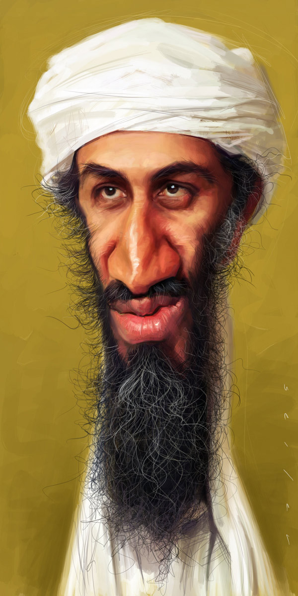 osama celebrity caricatures