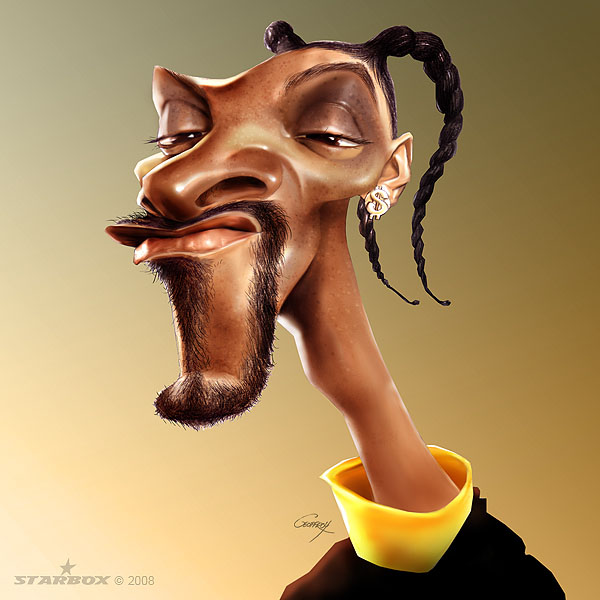 snoop dog celebrity caricatures anthony