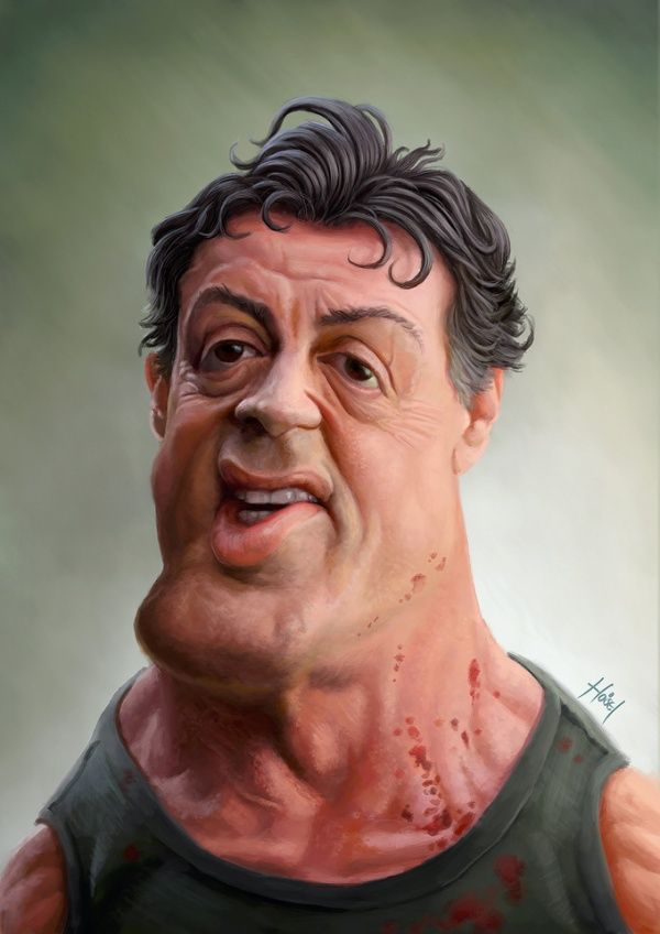 sylvester stallone caricatures