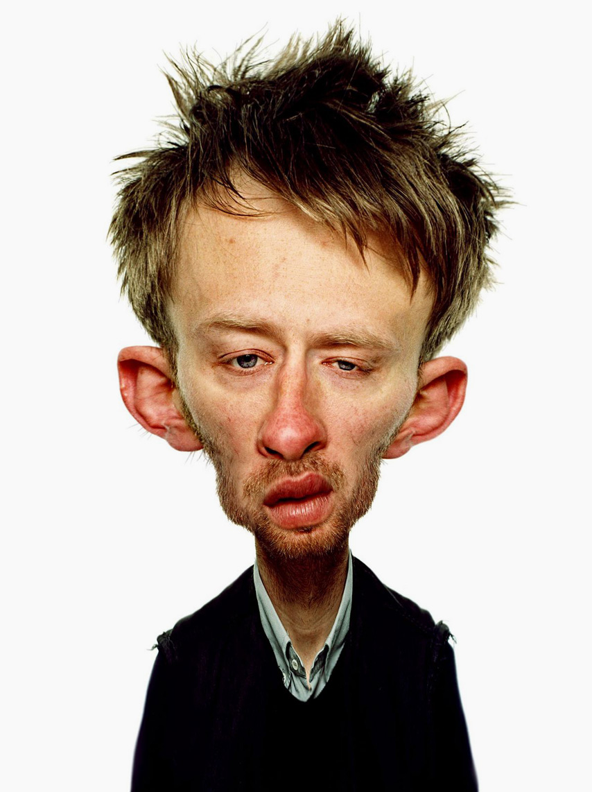thom yorke celebrity caricatures