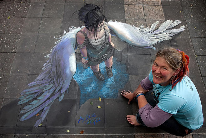 angel street art by jenny mccracken
