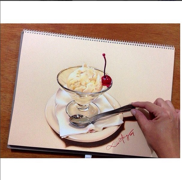 hyper realistic drawing by liehong79