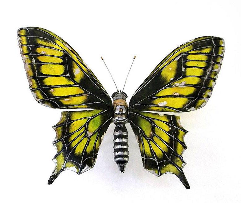 butterfly scrap sculptures igor