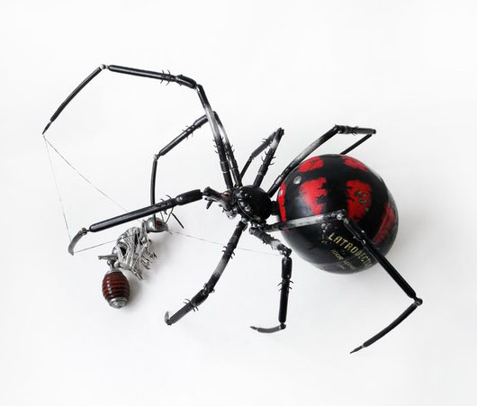 spider ant scrap sculptures igor