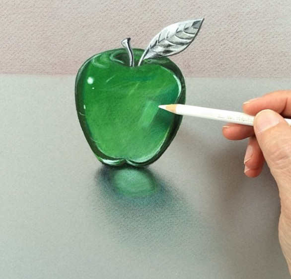 apple 3d drawings by leonardo pereznieto