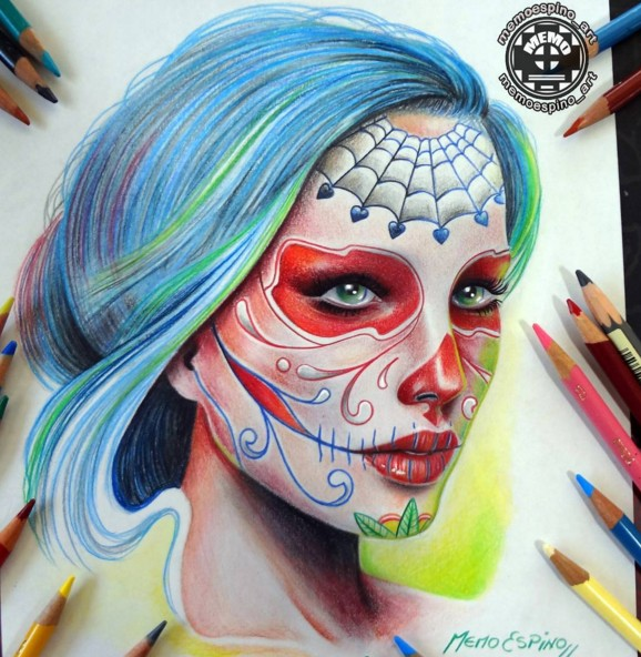 1 color pencil drawing by memo espino