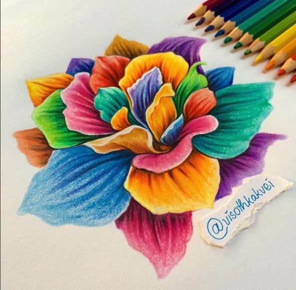 color pencil drawing by visothkakvei