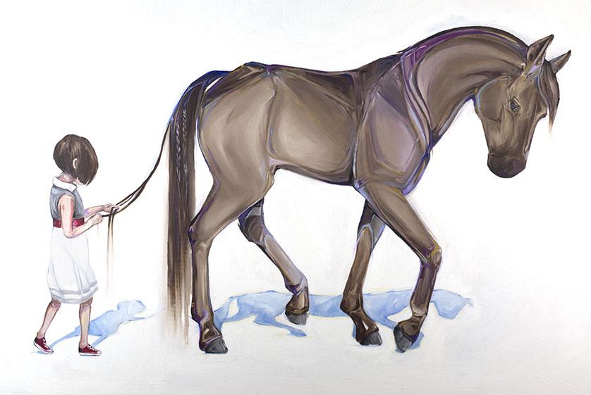 12 horse paintings by mckenzie fisk