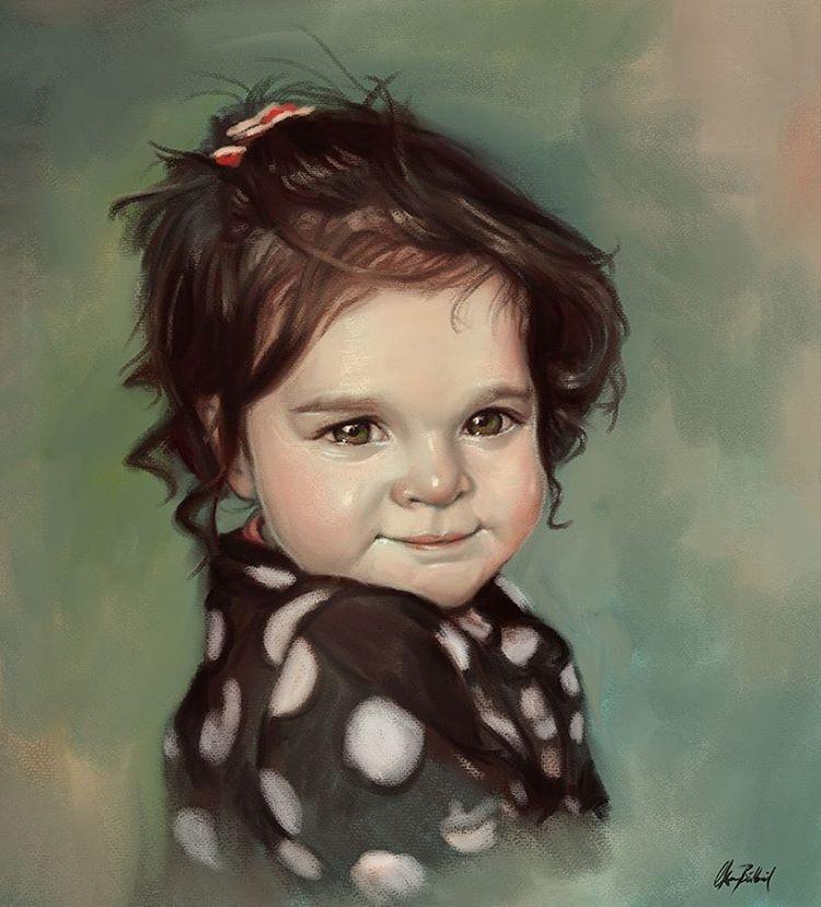 baby digital art by okan bulbul
