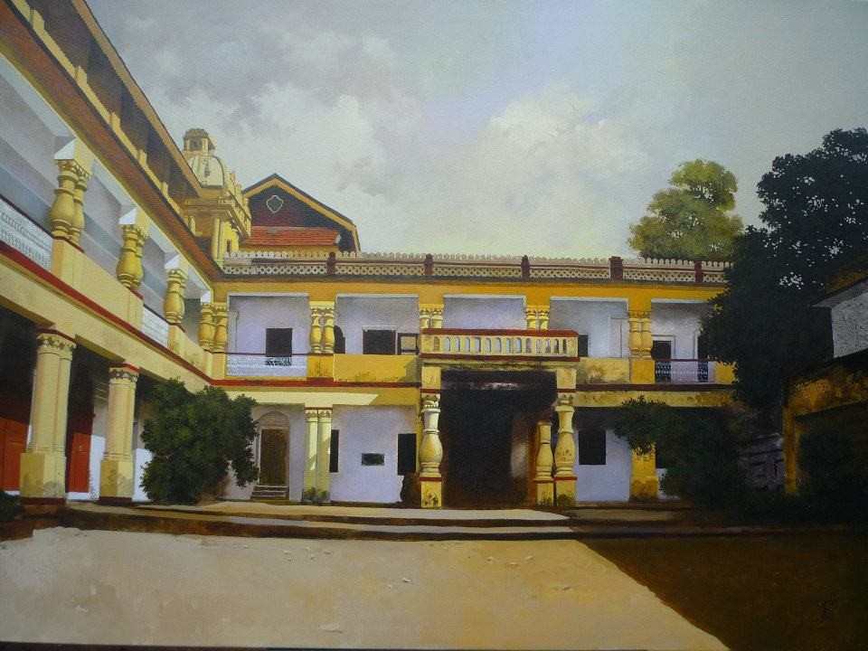 building acrylic paintings by raghunath sahoo