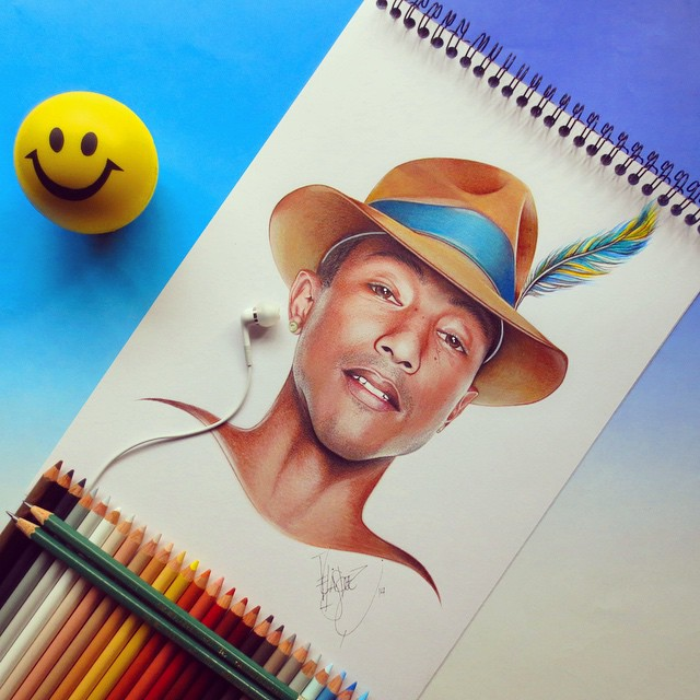 kareem bieber color pencil drawings by santiago