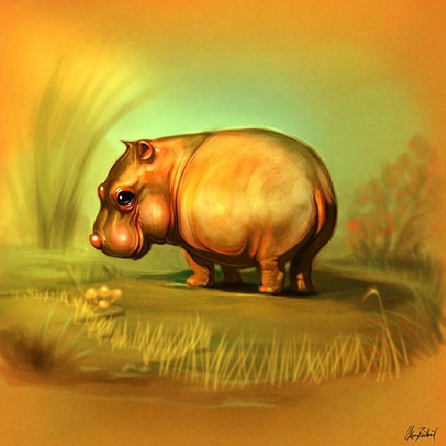 hipo animal digital art by okan bulbul