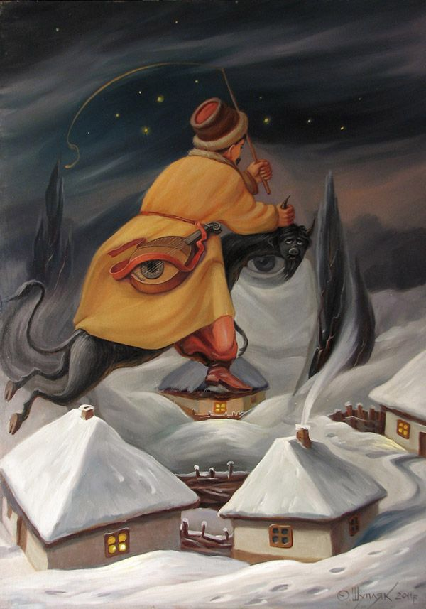 illusion oil painting by oleg shuplyak