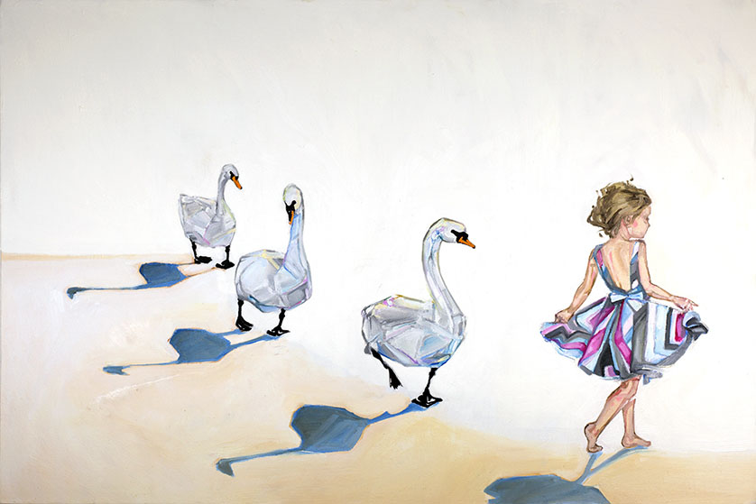 15 swans paintings