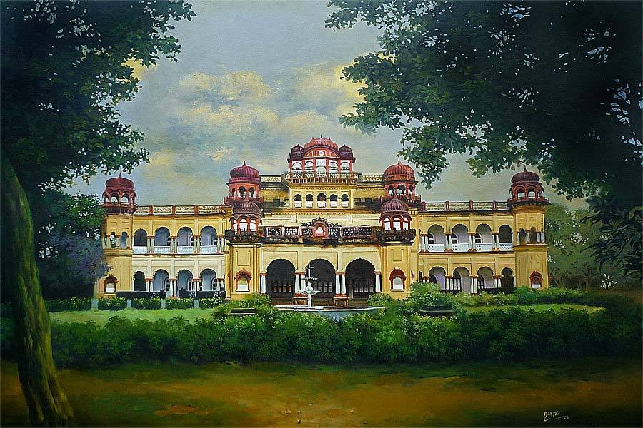 16 palace acrylic paintings by raghunath sahoo