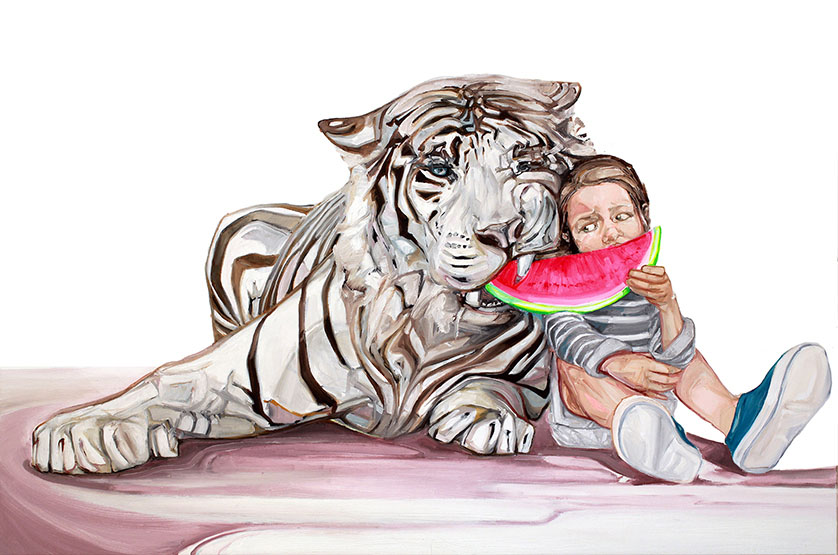 18 tiger paintings by mckenzie fisk