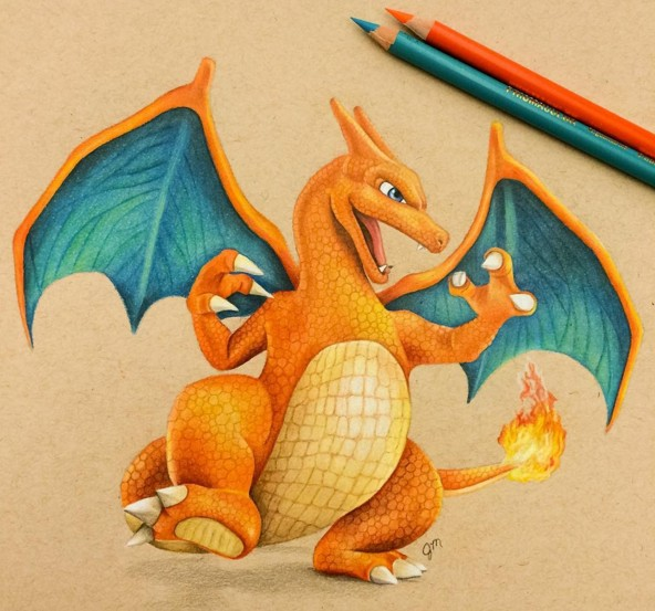 19 dragon animal color pencil drawing by julianna maston