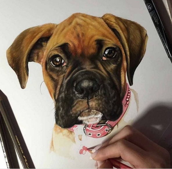2 color pencil drawings by kelly lahar