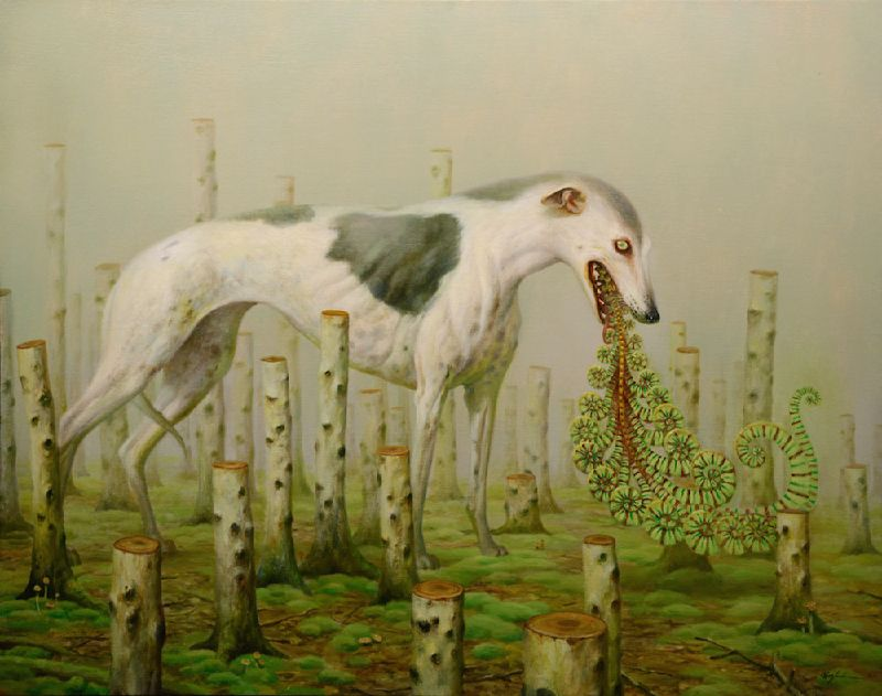 animal paintings by martin wittfoorh