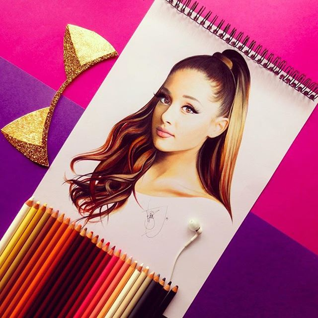 ariana grande color pencil drawings by santiago