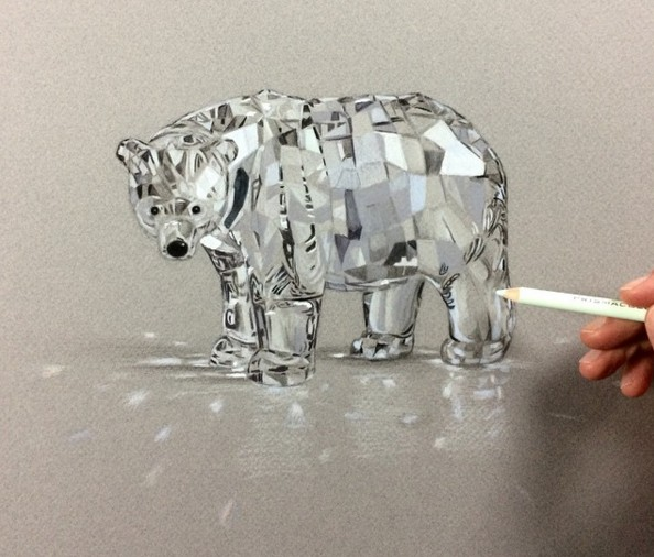 bear 3d drawings by leonardo pereznieto