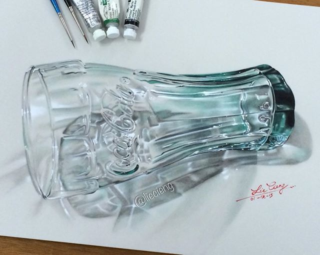 beautiful glass painting by tan lie cieng