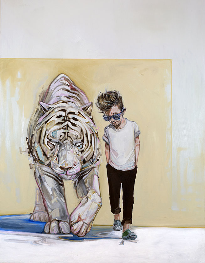 3 tiger paintings