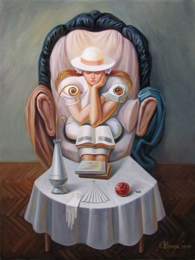 4 illusion oil painting by oleg shuplyak