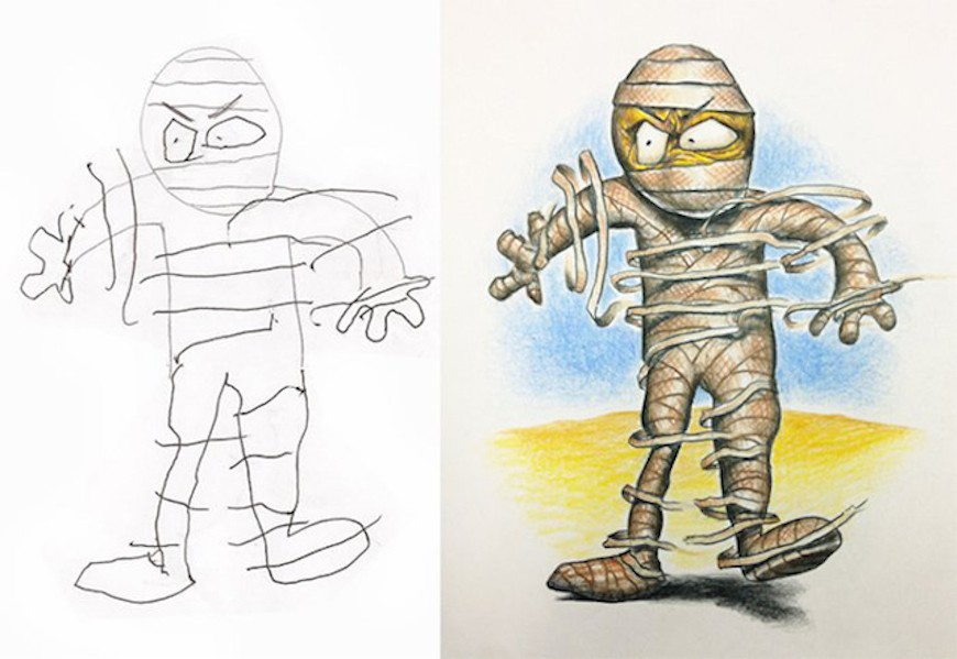 kids drawing by fred giovannitti