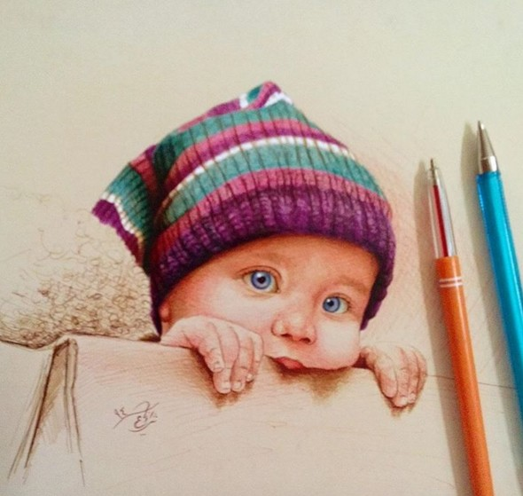 4 pen drawing by matin shafiee