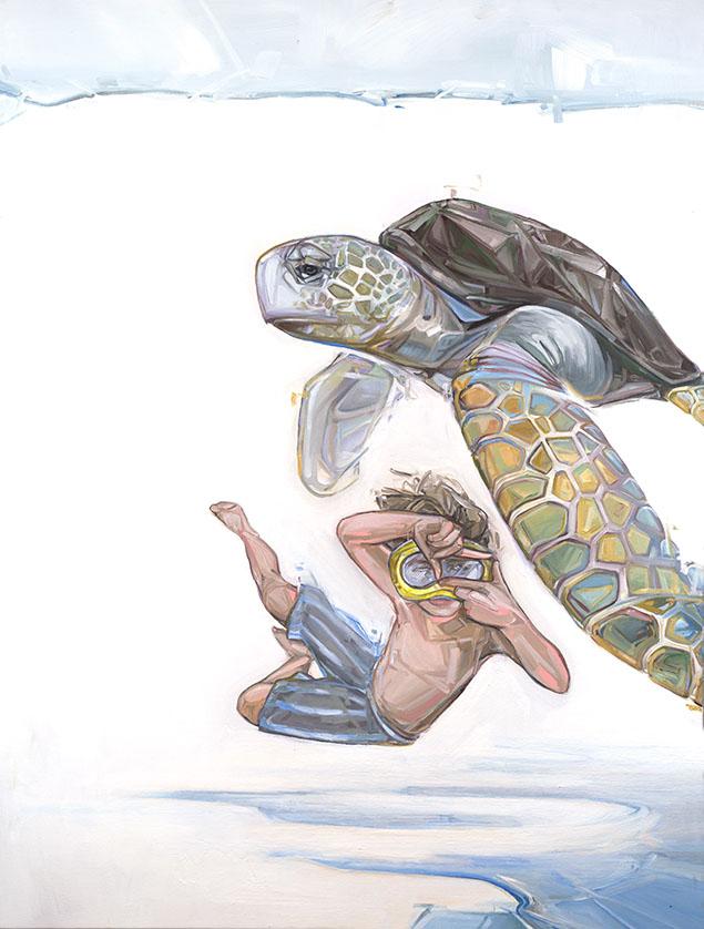 turtle paintings by mckenzie fisk