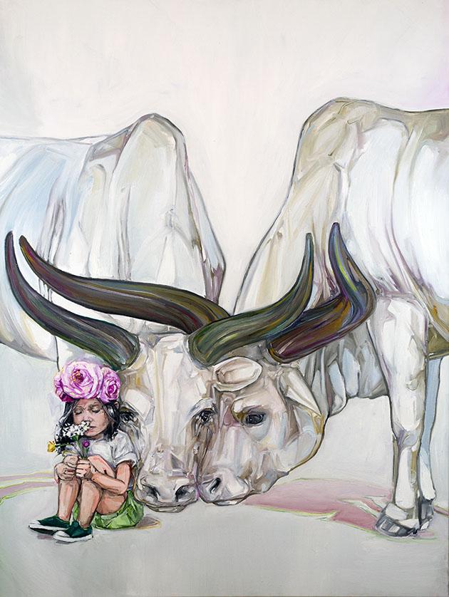 6 bulls paintings by mckenzie fisk