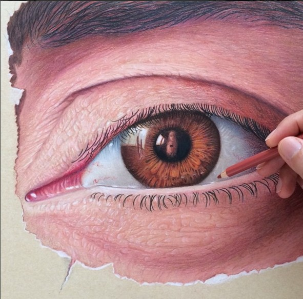 eye 3d drawings by leonardo pereznieto