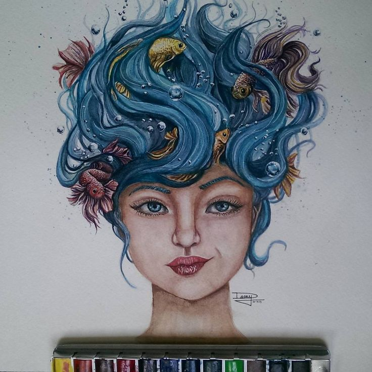 watercolor paintings by dany lizeth leon