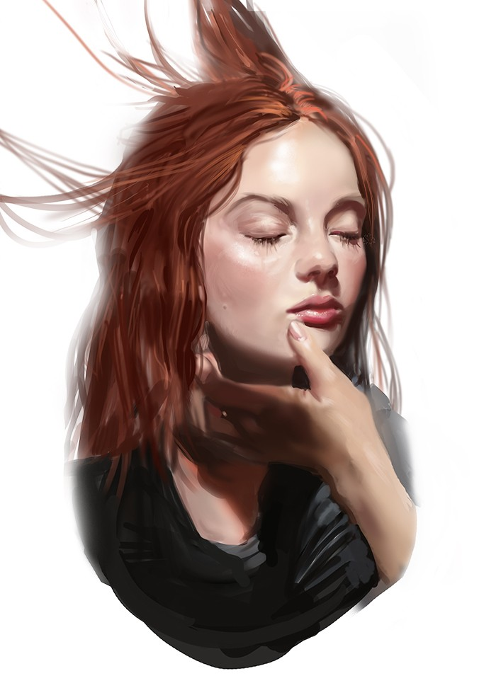 woman digital art by lera nyukalova