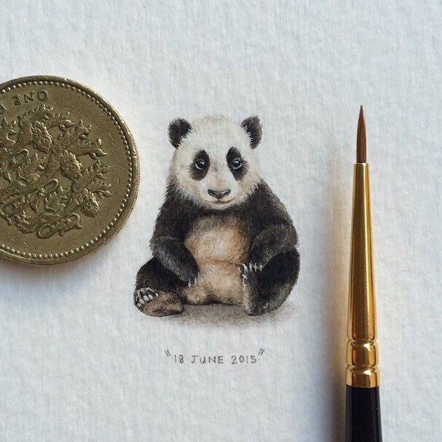 panda creative paintings by lorraine loots